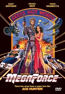 """Locandina di """"Megaforce"""". Notare la somiglianza con quella leggendaria di """"Star Wars""""."""